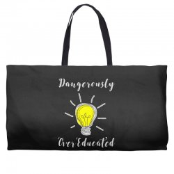 dangerously overeducated Weekender Totes | Artistshot