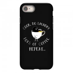 cook do laundry lots of coffee repeat iPhone 8 Case | Artistshot