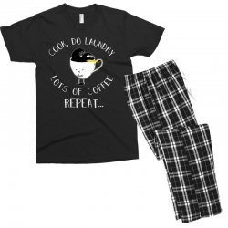 cook do laundry lots of coffee repeat Men's T-shirt Pajama Set | Artistshot