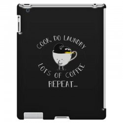 cook do laundry lots of coffee repeat iPad 3 and 4 Case | Artistshot