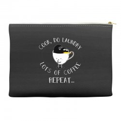 cook do laundry lots of coffee repeat Accessory Pouches | Artistshot