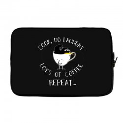 cook do laundry lots of coffee repeat Laptop sleeve | Artistshot