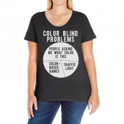 color blind problems people asking me what color is this Ladies Curvy T-Shirt   Artistshot
