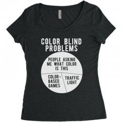 color blind problems people asking me what color is this Women's Triblend Scoop T-shirt   Artistshot