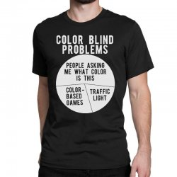 color blind problems people asking me what color is this Classic T-shirt   Artistshot