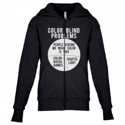 color blind problems people asking me what color is this Youth Zipper Hoodie   Artistshot