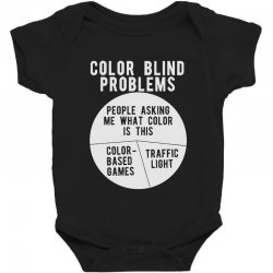 color blind problems people asking me what color is this Baby Bodysuit   Artistshot