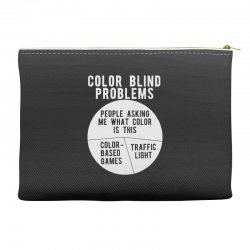 color blind problems people asking me what color is this Accessory Pouches   Artistshot