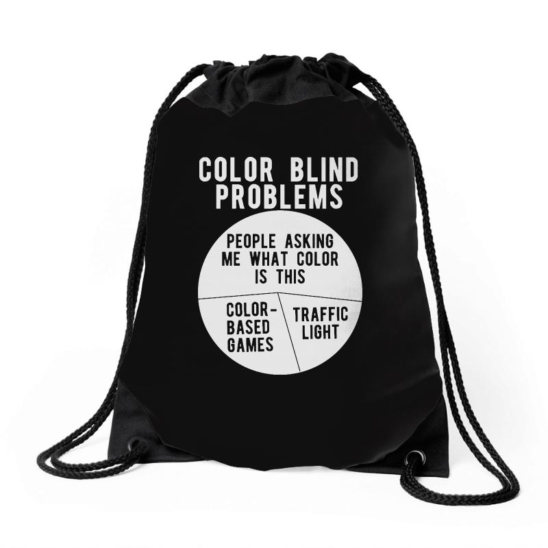 Color Blind Problems People Asking Me What Color Is This Drawstring Bags   Artistshot