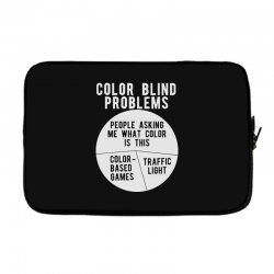color blind problems people asking me what color is this Laptop sleeve   Artistshot