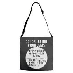 color blind problems people asking me what color is this Adjustable Strap Totes   Artistshot