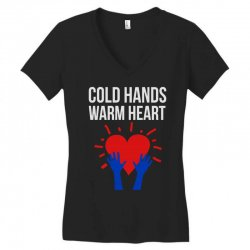 cold hands warm heart Women's V-Neck T-Shirt | Artistshot