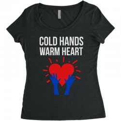 cold hands warm heart Women's Triblend Scoop T-shirt | Artistshot