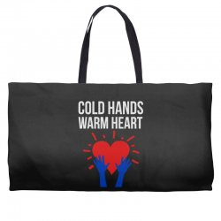 cold hands warm heart Weekender Totes | Artistshot