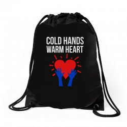 cold hands warm heart Drawstring Bags | Artistshot