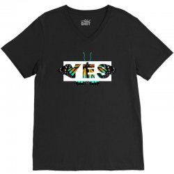 yes butterfly seek discomfort V-Neck Tee | Artistshot