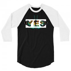yes butterfly seek discomfort 3/4 Sleeve Shirt | Artistshot