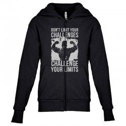 don't limit your challenges challenge your limits Youth Zipper Hoodie | Artistshot