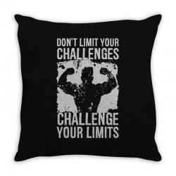 don't limit your challenges challenge your limits Throw Pillow | Artistshot