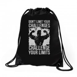 don't limit your challenges challenge your limits Drawstring Bags | Artistshot