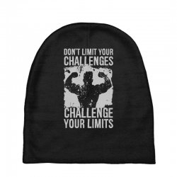don't limit your challenges challenge your limits Baby Beanies | Artistshot