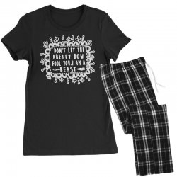 don't let the pretty bow fool you i am a beast Women's Pajamas Set   Artistshot
