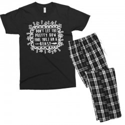don't let the pretty bow fool you i am a beast Men's T-shirt Pajama Set   Artistshot