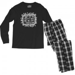 don't let the pretty bow fool you i am a beast Men's Long Sleeve Pajama Set   Artistshot
