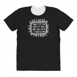don't let the pretty bow fool you i am a beast All Over Women's T-shirt   Artistshot