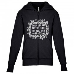 don't let the pretty bow fool you i am a beast Youth Zipper Hoodie   Artistshot