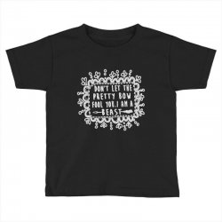don't let the pretty bow fool you i am a beast Toddler T-shirt   Artistshot