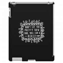 don't let the pretty bow fool you i am a beast iPad 3 and 4 Case   Artistshot