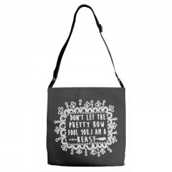 don't let the pretty bow fool you i am a beast Adjustable Strap Totes   Artistshot