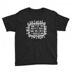 don't let the pretty bow fool you i am a beast Youth Tee   Artistshot