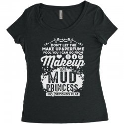 don't let the makeup and perfume fool you Women's Triblend Scoop T-shirt | Artistshot