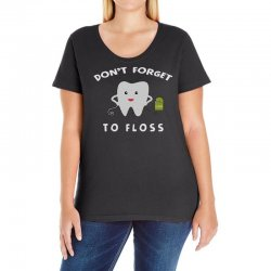 don't forget to floss Ladies Curvy T-Shirt   Artistshot