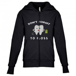 don't forget to floss Youth Zipper Hoodie   Artistshot
