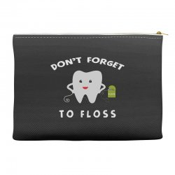 don't forget to floss Accessory Pouches   Artistshot