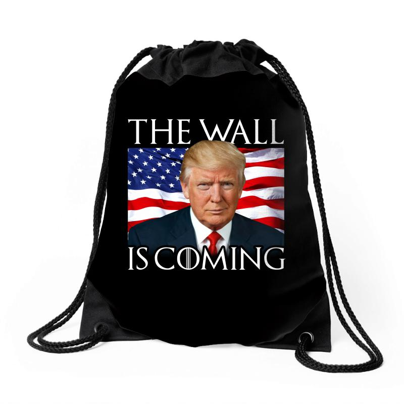 The Wall Is Coming Drawstring Bags | Artistshot