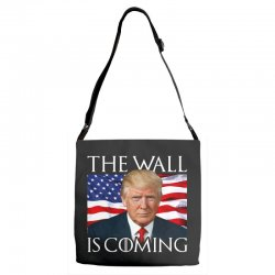 the wall is coming Adjustable Strap Totes | Artistshot