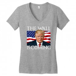 the wall is coming Women's V-Neck T-Shirt | Artistshot