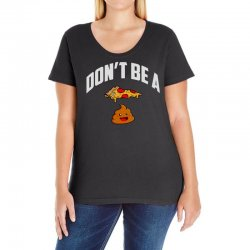 don't be a pizza poop Ladies Curvy T-Shirt | Artistshot