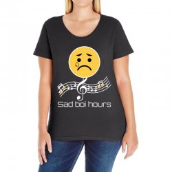 sad boi hours emoji Ladies Curvy T-Shirt | Artistshot