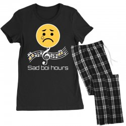 sad boi hours emoji Women's Pajamas Set | Artistshot