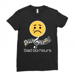 sad boi hours emoji Ladies Fitted T-Shirt | Artistshot