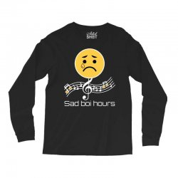 sad boi hours emoji Long Sleeve Shirts | Artistshot