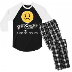 sad boi hours emoji Men's 3/4 Sleeve Pajama Set | Artistshot