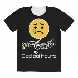 sad boi hours emoji All Over Women's T-shirt | Artistshot