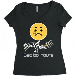 sad boi hours emoji Women's Triblend Scoop T-shirt | Artistshot