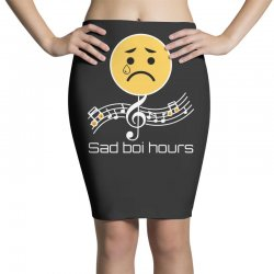 sad boi hours emoji Pencil Skirts | Artistshot